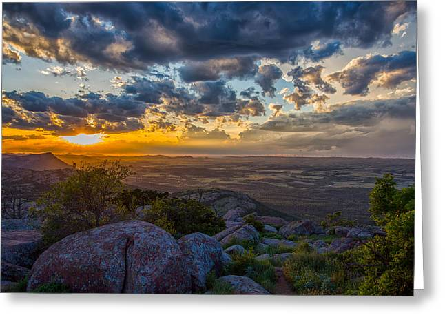 Sunset From The Heavens Greeting Card