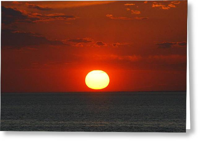 Sunset From The Montauket Hotel Greeting Card