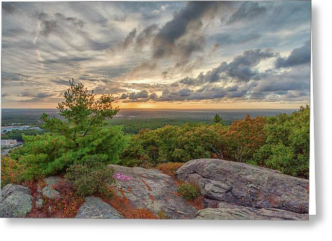 Sunset From The Skyline Trail Greeting Card