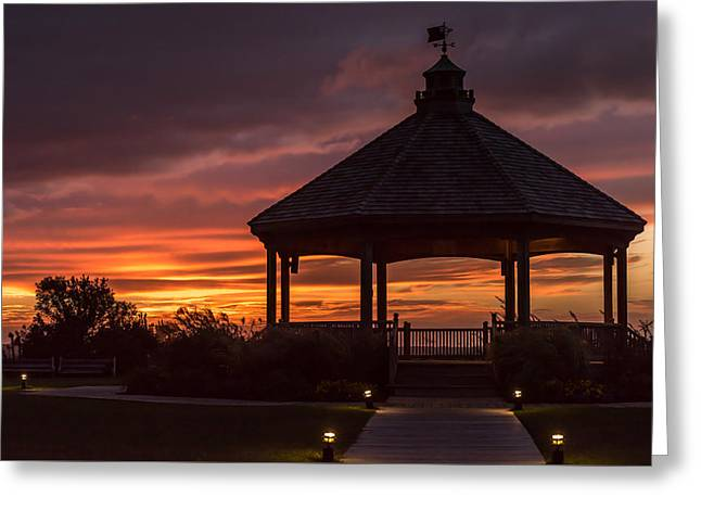 Sunset Gazebo Lavallette New Jersey Greeting Card