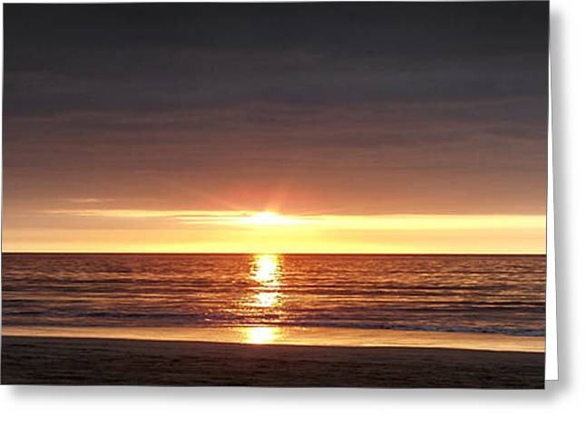 Sunset Greeting Card by Gina De Gorna