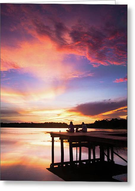 Sunset Glory Greeting Card by Parker Cunningham