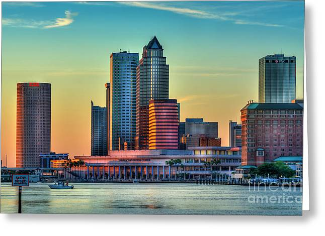 Sunset Glow Greeting Card by Marvin Spates