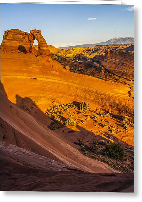 Sunset Glow On Delicate Arch Greeting Card