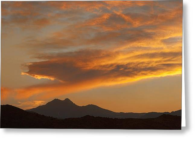 Sunset Glow Over The Twin Peaks Greeting Card by James BO  Insogna