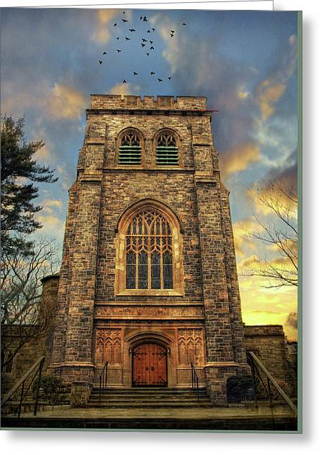Sunset Gothic Greeting Card by Jessica Jenney