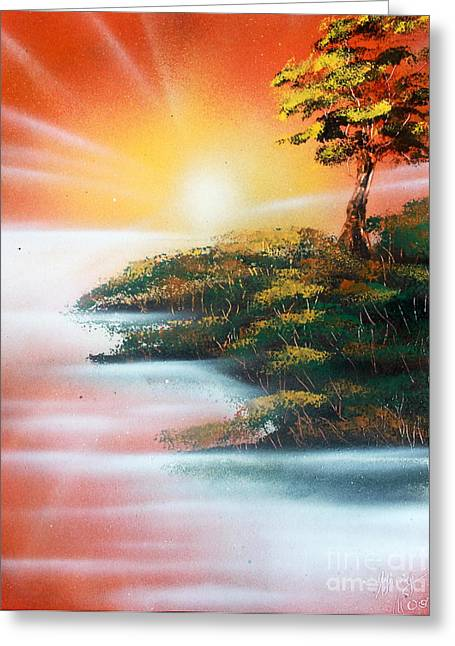 Sunset Greeting Card by Greg Moores