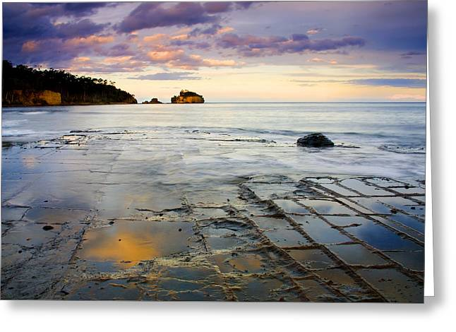 Sunset Grid Greeting Card by Mike  Dawson