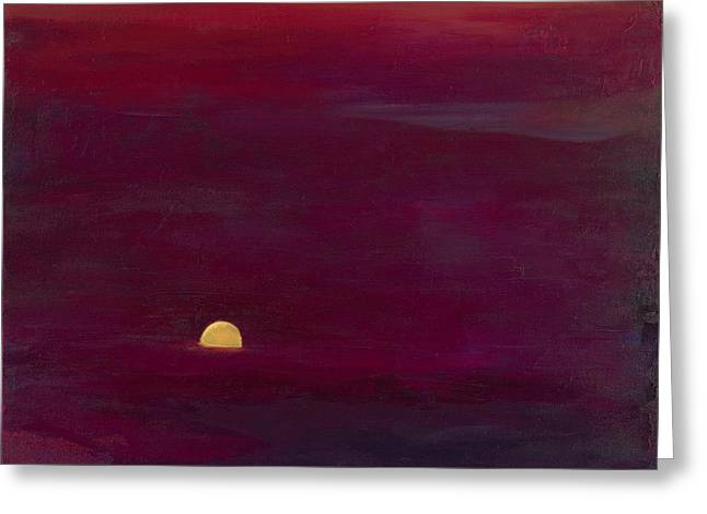 Sunset Greeting Card by Hannah Doty