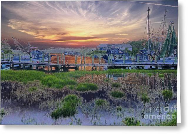 Sunset Harbor Dream Greeting Card