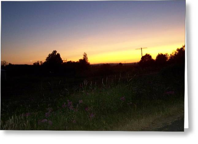 Sunset Haze Greeting Card by Laurie Kidd