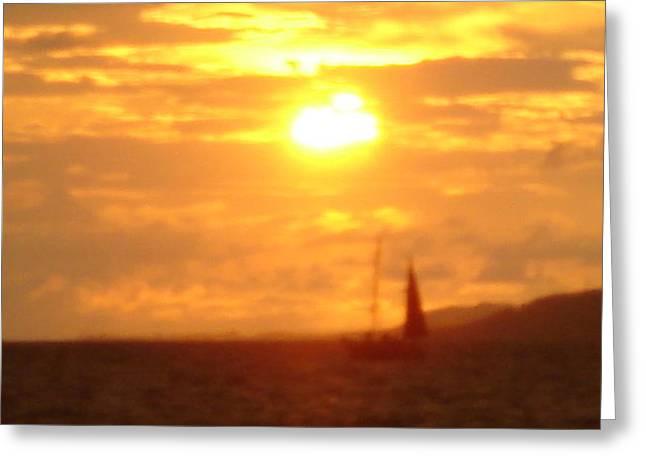 Sunset Haze Greeting Card by Randall Slinkard
