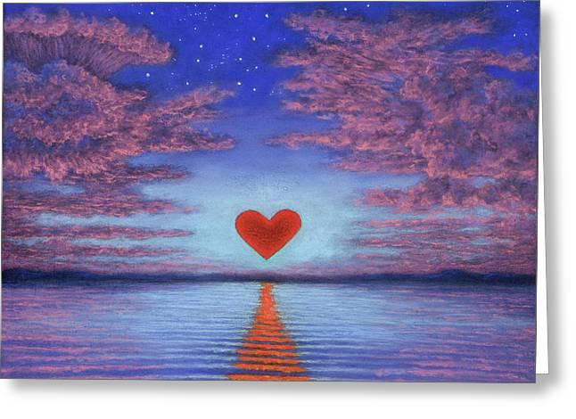 Sunset Heart 02 Greeting Card
