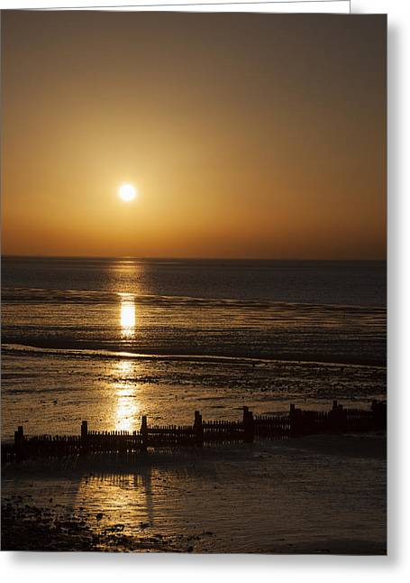 Sunset Hunstanton Greeting Card