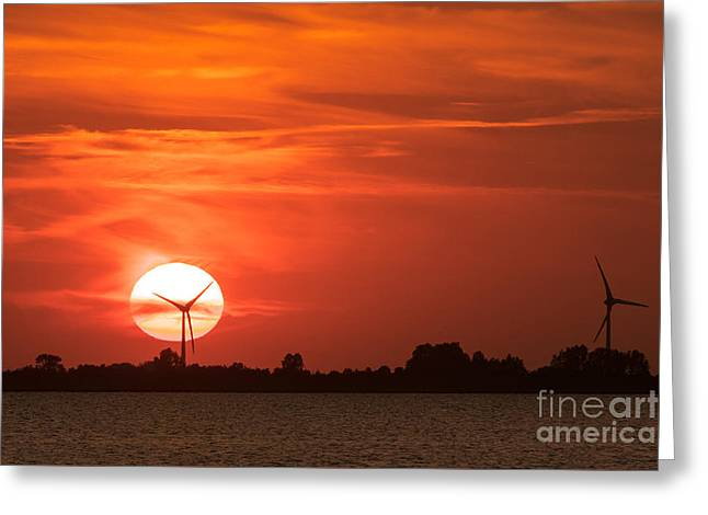 Sunset Husum Greeting Card