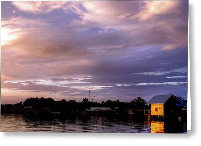 Caribbean Sunset Greeting Cards - Sunset Hut Greeting Card by Dolly Sanchez