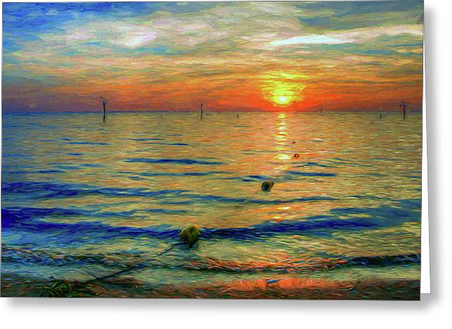 Sunset Impressions Greeting Card