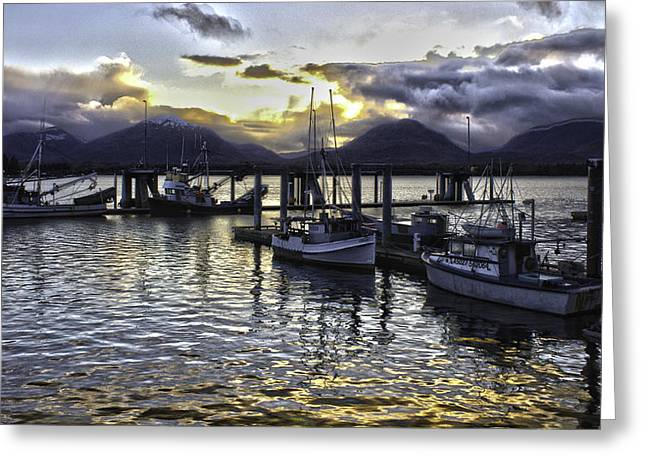 sunset In Alaska Greeting Card