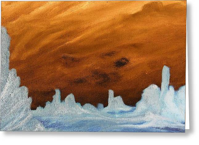 Sunset In An Ice Land Greeting Card