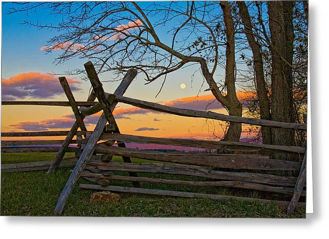 Sunset In Antietam Greeting Card