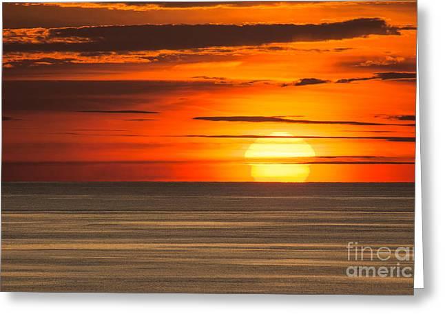 Sunset In Bermuda Greeting Card