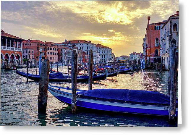 Greeting Card featuring the photograph Sunset In Canal Grande by Fabrizio Troiani