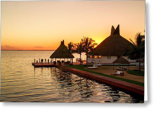 Sunset In Cancun Greeting Card