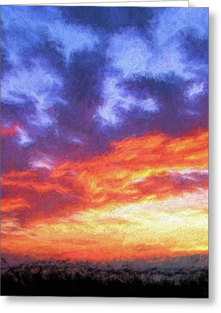 Sunset In Carolina Greeting Card