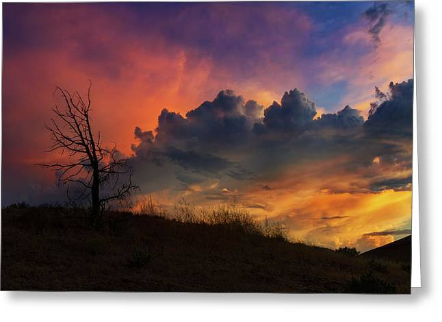 Sunset In Central Oregon Greeting Card by David Gn