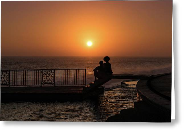 Sunset In Cerritos Greeting Card