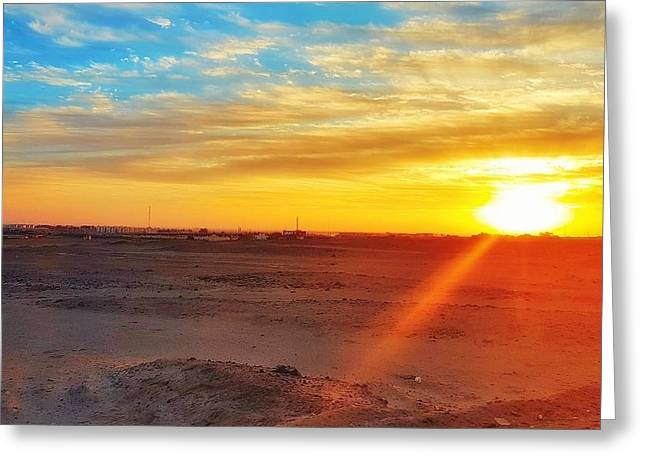 Sunset In Egypt Greeting Card