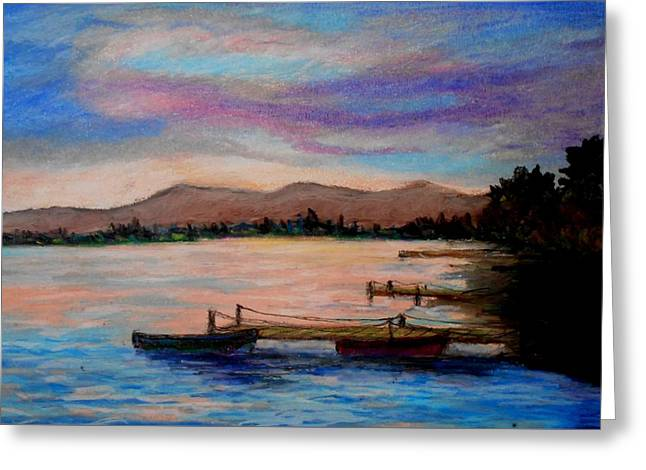 Sunset In Evia Greeting Card