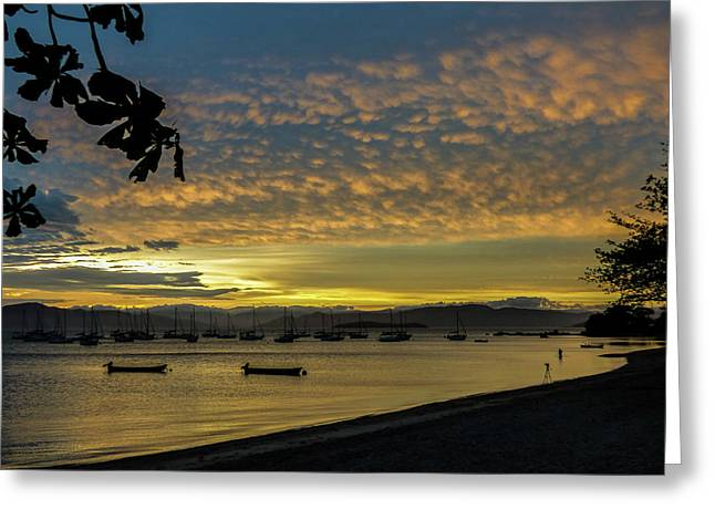 Sunset In Florianopolis Greeting Card