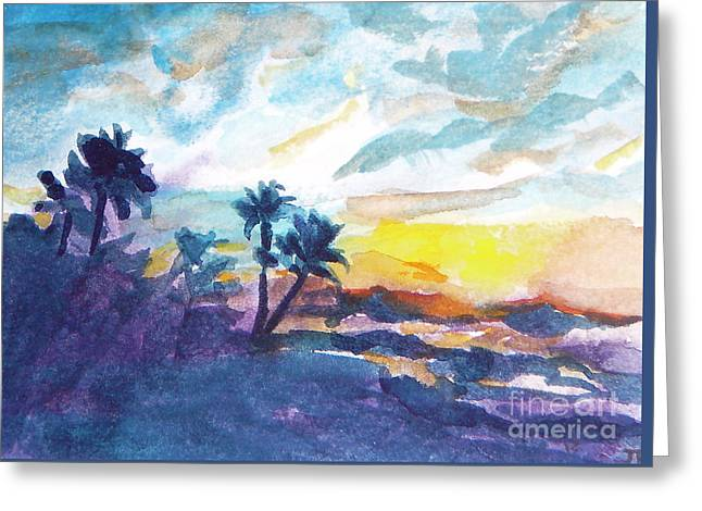 Sunset In Hawaii Greeting Card