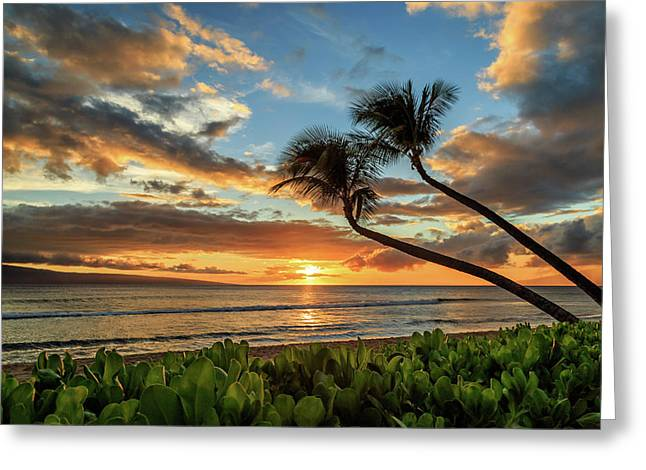 Greeting Card featuring the photograph Sunset In Kaanapali by James Eddy