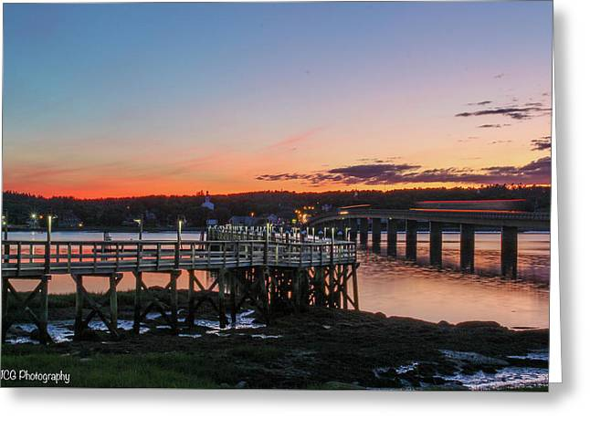 Sunset In Maine Greeting Card