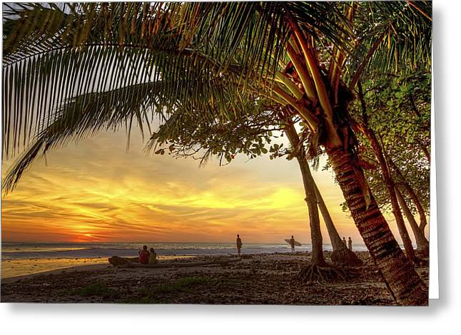 Sunset In Mal Pais Greeting Card