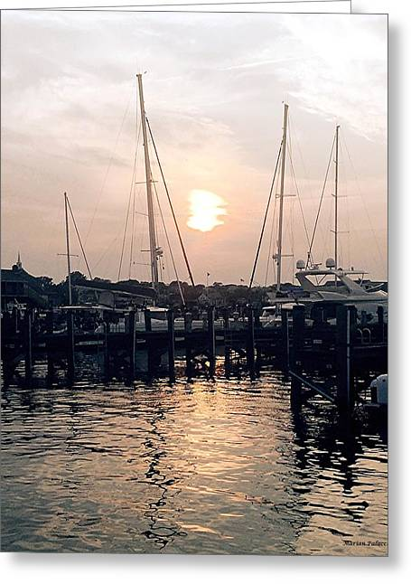 Sunset In Nantucket Greeting Card