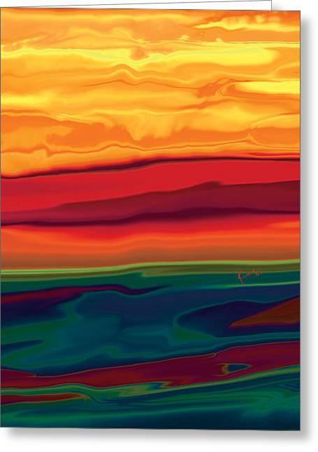Sunset In Ottawa Valley 1 Greeting Card by Rabi Khan