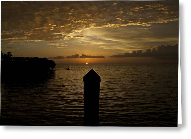 Sunset In Paradise Greeting Card by Christin Walton