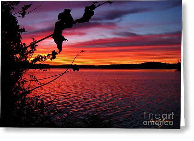Greeting Card featuring the photograph Sunset In Pennsylvania by Donna Brown