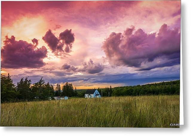 Sunset In Rear Intervale Greeting Card by Ken Morris