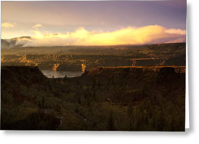 Sunset In Rowena Greeting Card