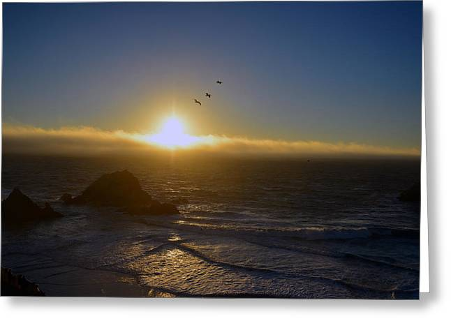 Sunset In San Francisco Greeting Card