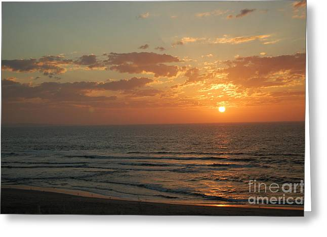 Sunset In Santa Cruz Greeting Card by Garnett  Jaeger