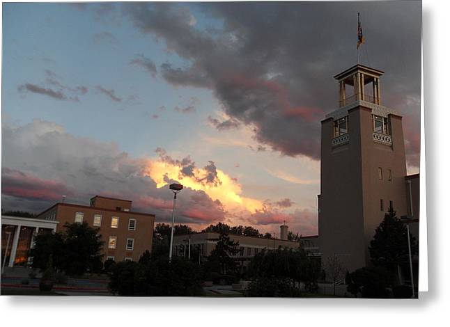 Sunset In Santa Fe Greeting Card