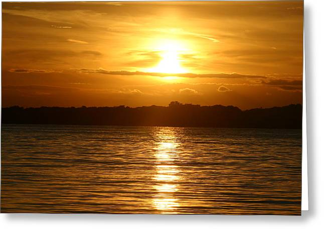Sunset In Shelter Island  Greeting Card by Matthew Kennedy