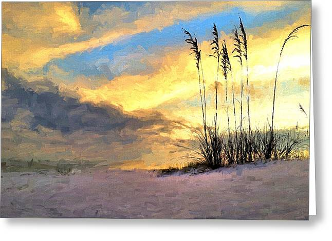 Sunset In South Walton Greeting Card by JC Findley