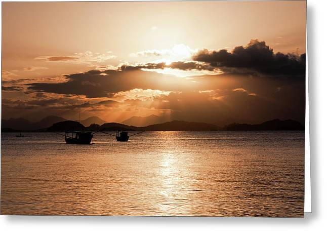 Sunset In Southern Brazil Greeting Card