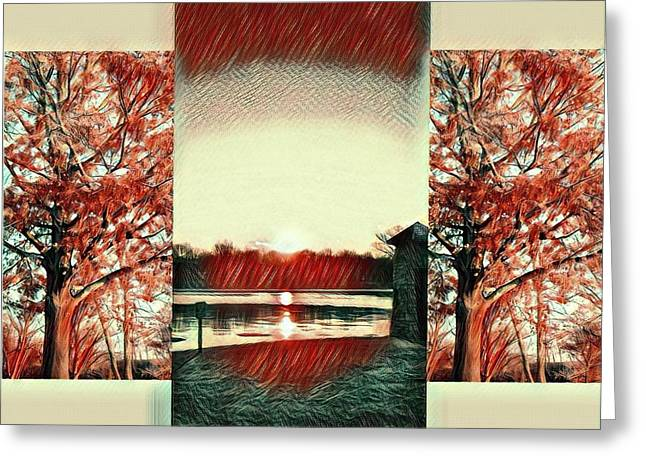 Sunset In St. Charles Greeting Card